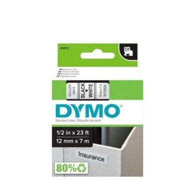 Páska pro Dymo 45013 12mm/7m   (černé písmo/bílý podklad)(1076000983)
