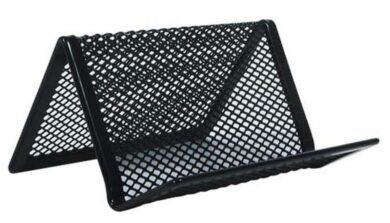 Stojánek na vizitky kovový drátěný černý(1099900123)