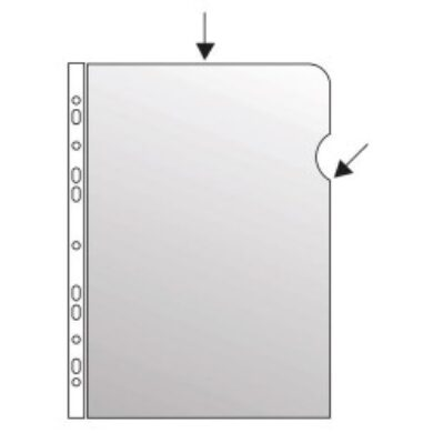 Folder A4 L/U hanging with perforation (25pcs in pack)(1176550022)