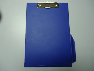 Writting pad with clip and pen holder A4 blue  (1186874161)