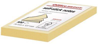 Bloček samolepící (100 lístků) 76x127 mm žlutý(1276200102)