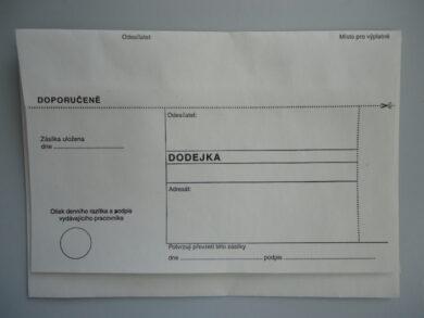 Obálka  bílá s DODEJKOU bez pruhu(1276450029)