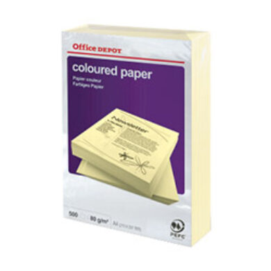 Paper A4, 80g/m2, 500 sheet - pastel shade yellow  (1276920250)