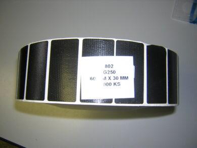 Výsek 60x30 černý G250  3000ks/balení(1276920279)