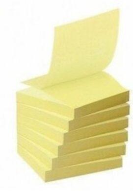 Bloček samolepící  (100 lístků) 38x50mm žlutý(1376000840)