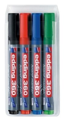 Marker on magnetic table E360 set of 4 colours  (1376159501)