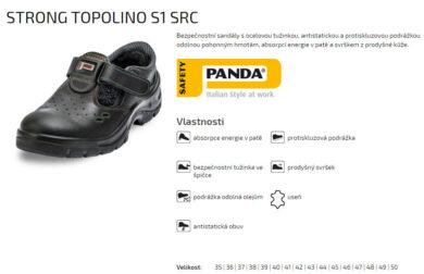 Sandál Strong Topolino S1 SRC vel. 39(2189002404)
