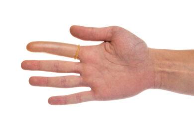 Návlek ochranný na prst, latexový, vel.7(2484000787)