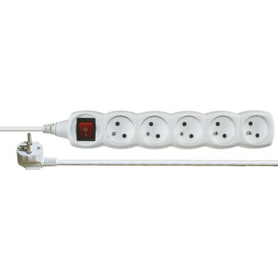 Extension cabel with 5 mains outlet with switch - 5m  (3187000860)