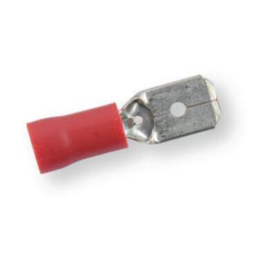 Zástrčka plochá 6,3x0,8 červená(3400141571)