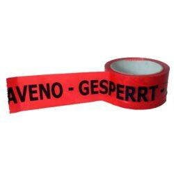 Páska lepící GESPERRT ZADRŽENO  ( 75x66 )