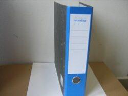 File lever A4 wide 7,5cm, 1mechanics - back bone blue
