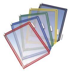 Kapsy Tarifold  ČERNÉ (shora otevřené)  1bal/10ks-Barevné kapsy formátu A4 pro přehledné umístění dokumentů. Balení obsahuje 10 ks kapes a navíc  5 plastových popisek, kterými lze  kapsy dále odlišit.