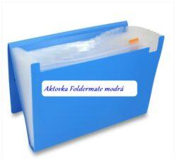 Aktovka FOLDERMATE modrá - 12 přihrádek-Náhrada za Aktovku Foldermate stříbrnou, která se již nevyrábí