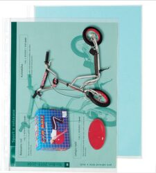 "Folder for brochure A4 ""U"" hanging (100pcs in pack) - Open at the top, material polypropylene, transparent"