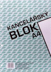 Blok A4 lepený  čtvereček