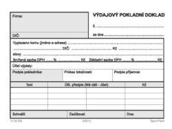 Doklad výdajový pokladní-Samopropisovací, 50 listů, A6