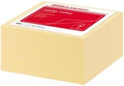 Bloček samolepící (100 lístků) 76x76 mm žlutý