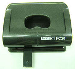 Děrovačka Rapid FC20 černá na 20 listů