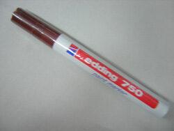 Marker Edding 750 strong - brown
