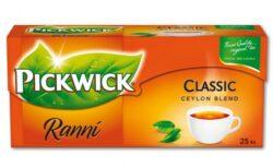 Čaj Pickwick  černý, 25 ks x 1,75g-100% přírodní výběrový černý čaj z Cejlonu. Teinový nápoj nejen na ráno. Obsahuje přírodní antioxidanty.