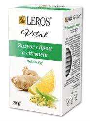 Čaj bylinný Leros zázvor s lípou, 20x2g