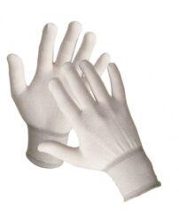Rukavice nylonové  BOOBY    vel.L-Pletené bezešvé rukavice s pružnou manžetou z kadeřeného nylonu.