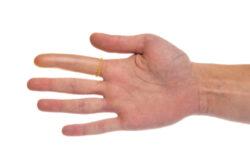 Návlek ochranný na prst, latexový, vel.7-Balení 50 ks