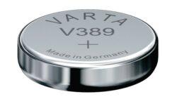 Battery Varta V389 1,55V Silver-1,55V;  85mAh;  průměr 11,6 mm;  výška 3,05mm