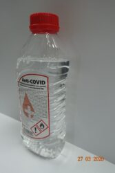Anti - COVID hand and surface disinfection 1L - Personal hygiene disinfectant - hand disinfection, can also be used on surfaces. Instructions for Use: Use sufficient quantity (2 x 3 ml) to cover the entire area. Apply to the palms and spread with all hands and wrists; pay special attention to the cuticle around the nails and folds in the skin. Wipe well until skin is dry. Use up to 10 times a day.