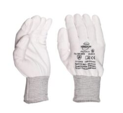 White Knitted ESD PU Fingertips Coated size  XL/10