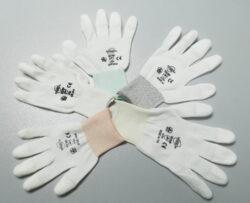 Antistatic white 10/XL gloves